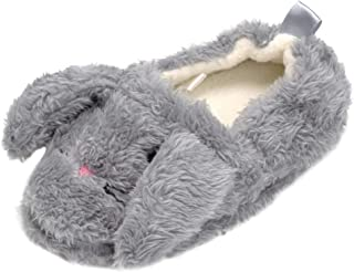 Boys Girls Plush Warm Animal Fleece House Slippers Fuzzy Indoor Bedroom Shoes for Toddler Kids