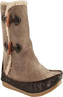 Salt N Pepper Ozone Grey Leather Women Flat Boots