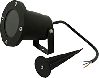 Opus Outdoor Gu10 Garden Spike Light - Glass Cover with 16 cm Spike No Plug - Ground Mount or Wall Light IP65