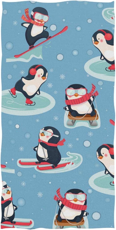 Ahomy Badetuch Winter Pinguin weiche Baumwolle saugfähig Komfort große große große Handtücher Badetuch für Herren, Damen, Kinder B07L4HN6J3 c0f772