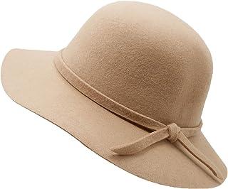Kids Girl's Vintage Dome 100% Wool Felt Bowler Cap Floppy...