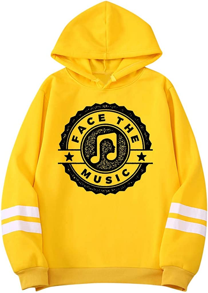 ✦HebeTop✦ Unisex FACE Max 50% OFF The Casual Printed Letter Music Ranking TOP13