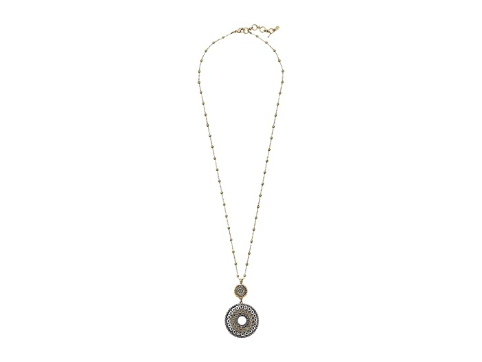 Lucky Brand  Tribal Pendant Necklace (Two-Tone) Necklace