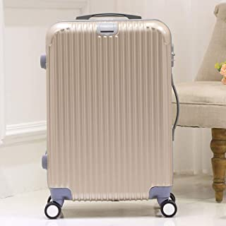 Trolley Case Caster Travel Luggage Outgoing Luggage Solid Color Gold 24 Inch