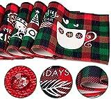 MTaoyac Weihnachten Deko, Weihnachts-Platzsets, Weihnachts-Tischsets und Untersetzer, rutschfest ,hitzebeständig, wasserdicht, Schmutzabweisend und Waschbare.(6er Set) - 2