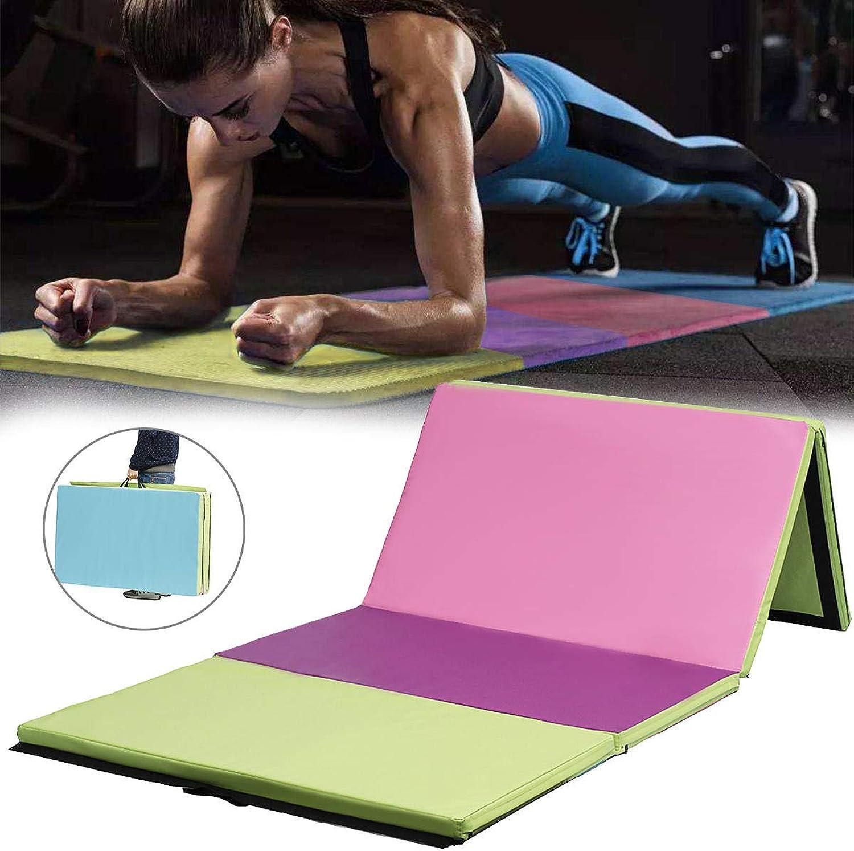 Shop Sport 118×47×2inch 4 Folding Gymnastics Mat Yoga Exercise Gym Airtrack Panel Tumbling Climbing Pilates Pad