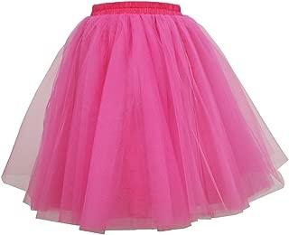 Lisong Women's Layered Knee Length Tulle Tutu Party Skirt