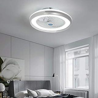 WJJH Ventilador de Techo con iluminación, Ventilador de Techo de luz LED, Ajustable Velocidad del Viento, Regulable de Control Remoto, 72W LED de luz de Techo Moderna, la lámpara de Techo,Blanco