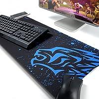 Exco - Alfombrilla gruesa de goma antideslizante para ratón, alfombrilla raton exco, Alfombrilla Raton Gaming Grandes, para jugadores y trabajadores de oficina XL Blue Leopard