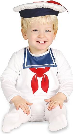 Guirca - Disfraz de marinero con traje y gorro, para niños de 12-24 meses, color blanco (85551): Amazon.es: Juguetes y juegos