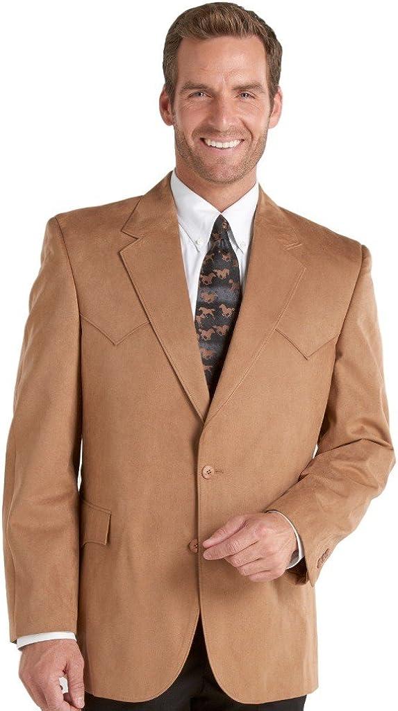 Circle S Men's Microsuede Sport Coat Reg, Tall Camel 44 T