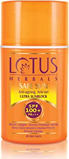 Lotus Herbals Safe Sun Anti-Ageing, Anti-Tan Ultra Sunblock SPF 100+ PA+++ 30ml