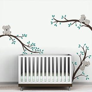 Pegatinas Pared Decorativas Decoración Mural Wall Stickers Oversize Abnehmbare Koala Äste DIY Wandtattoos Kindergarten Vinyls Baby Wandkunst Aufkleber Für Kinder Zimmer Benutzerdefinierte FA