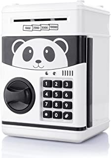 TOPBRY Cartoon Piggy Bank Cash Coin Can Password Electronic Money Bank Safe Saving Box ATM Bank Safe Locks Panda Smart Voice Prompt Money Piggy Box