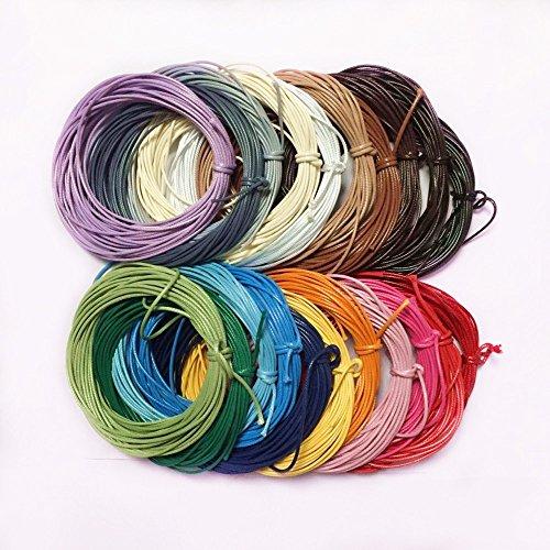 Generic 10m Long Cordon Ciré en Nylon pour Artisanat Bijoux Collier Bracelet Diy - 21 Couleurs - Lac bleu