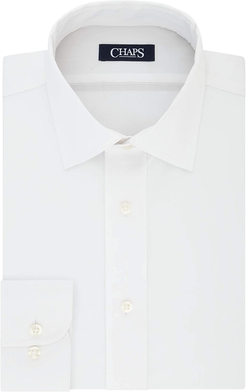 Chaps Men's Dress Shirt Slim Fit Comfort Stretch Solid