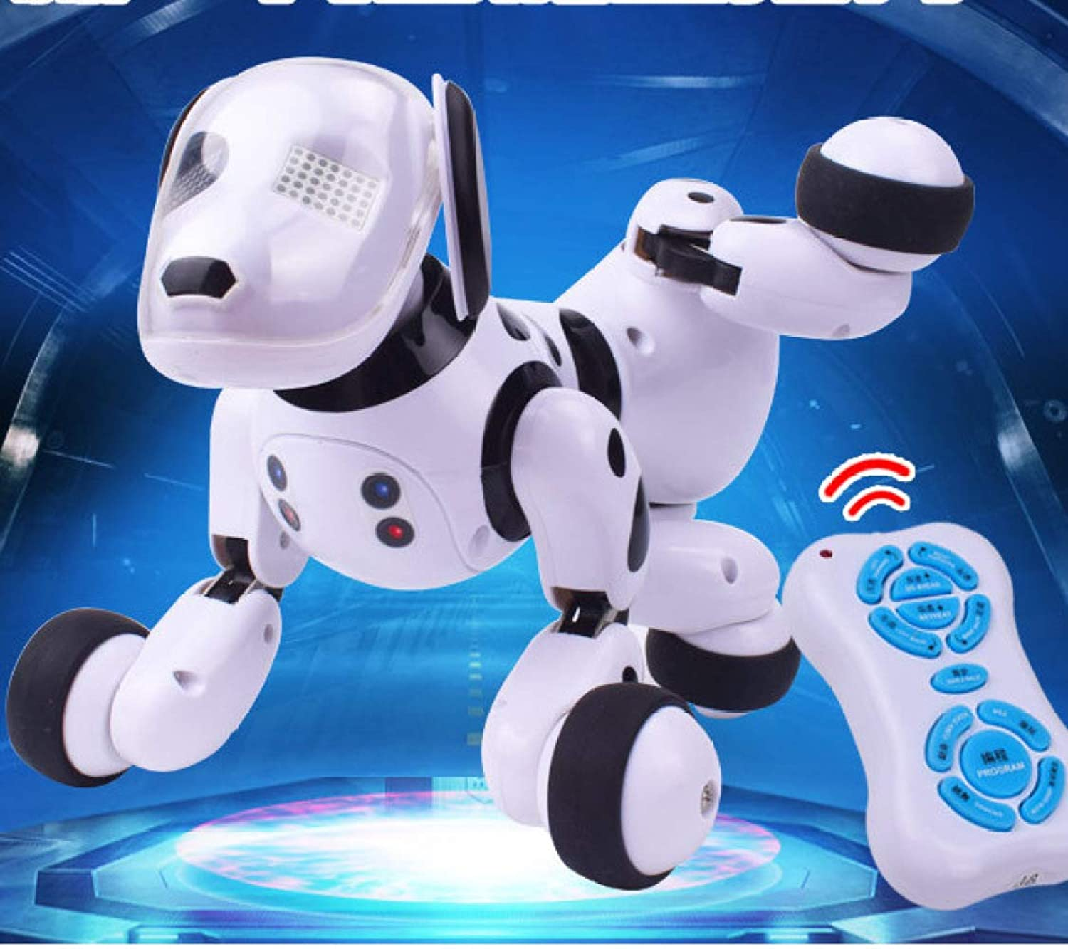 ZDY Smart Robot Dog,Electronic Pet Dog,Programmable,Dancing Music,Responds To Touch Chasing Interactive Fun Activities26  15  18cm 10.2  6  7.1 Inches,Newversion