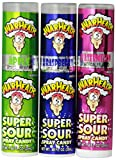 Warheads Super Sour Spray Candy Watermelon Cherry Green Apple Blue Raspberry Variety Pack 0.68 Ounce Bottles (Pack of 12) by Impact Confections