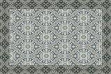 Vilber New Classic Damasco Alfombra, Vinilo, Gris, 153x230x0.2cm