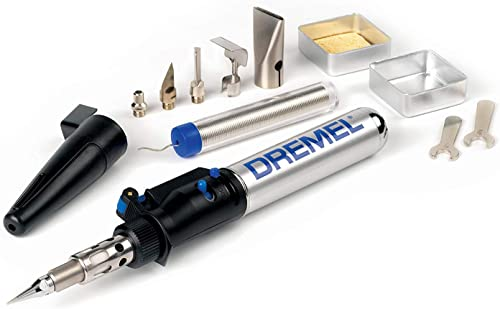 Dremel Versatip 2000 Butane Gas Soldering Iron Kit (With 6 Interchangeable Pen Tips for Welding, Wood Burning, Pyrogr...
