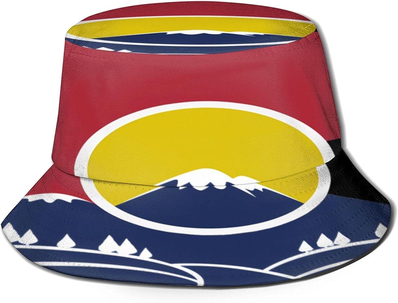 Rocky Mountain Colorado Bucket Hat Packabl Max 80% OFF Sun Louisville-Jefferson County Mall Summer Unisex
