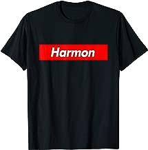 Harmon Name Family Red Box Parody Logo Funny T-Shirt