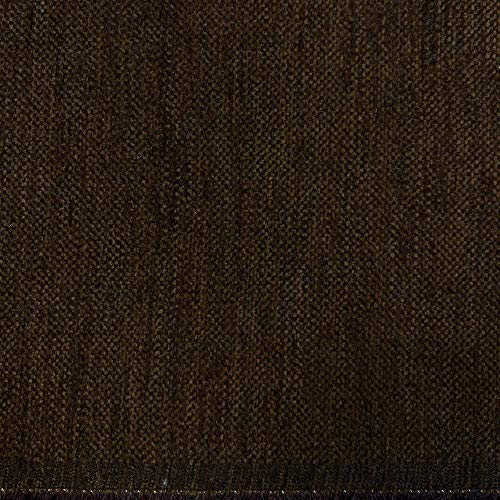 Kt KILOtela Tela de tapicería Lisa - Chenilla de Doble Cara - Tacto Suave Aterciopelado - Muy Resistente - Retal de 100 cm Largo x 280 cm Alto | Marrón Oscuro