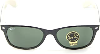 New Ray Ban RB2132 875 Black on Beige Frame/Crystal Green 55mm Sunglasses