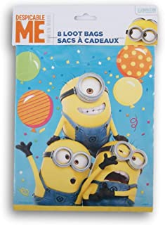 Despicable Me Minion Themed First Birthday Party Favor Loot Bags 8 Count