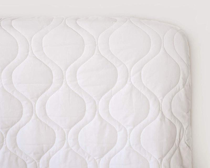 SheetWorld Quilted Fitted Crib Mattress Pad 28 X 52 Solid White Made In USA
