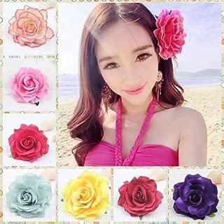 Haarspangen Rosen Blumen,10 Pack Rose Haarspange Colorate Haar Clip Haarblume Brosche Haarschmuck per Donne Ragazze Party Hochzeit Feste Banquet Reisen 4 Pollici