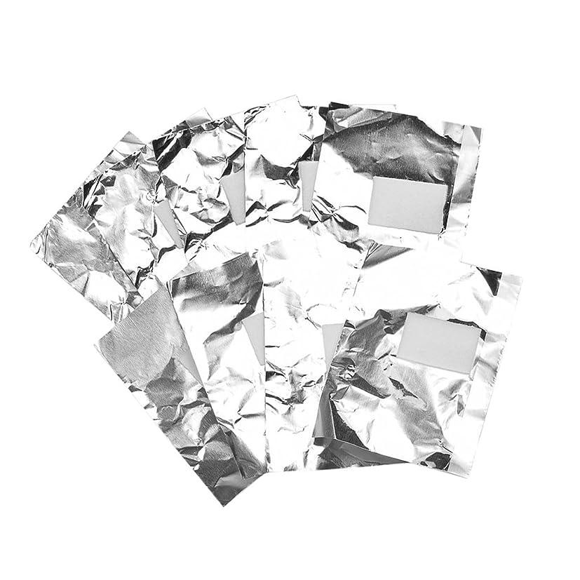 放射能ツーリスト写真撮影Baosity 約100枚 ジェル除却 ネイルアート 錫箔紙 クリーナーツール パッド 爪装飾除き 包み紙