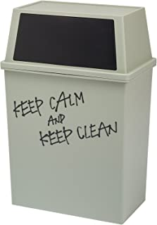 平和工業 積み重ねゴミ箱 ワイド 45L ブラック