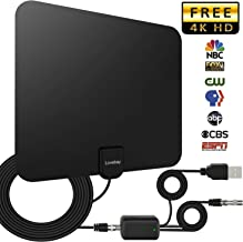 50-100 Miles HDTV Antenna, Indoor HD Digital TV Antenna with Amplifier Signal Booster for1080P 4K Free TV Channels, Amplified 13.1ft Coax Cable [2018 Upgraded Version]