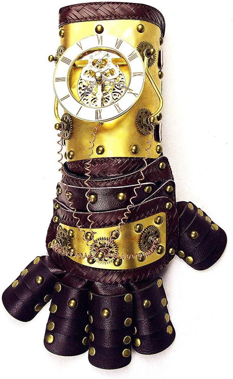 comprar nuevo barato JINHONGH War Guante de Brazo Dorado con Horologe Gears Gears Gears Traje de CosJugar Steampunk Props Accesorios con Caja de Regalo (Color   oro)  Ahorre 35% - 70% de descuento