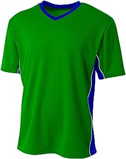 A4 Sportswear Soccer 2-Color Side Panel V-Neck Breathable Mesh Jersey Shirt Uniform Top