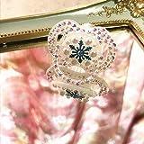 Dollbling Funkelnde Blaue & Weiße Fantasie Traum Schneeflocke Kristall Handarbeit Luxus Säugling Schnuller 0-6 Monat,1PC (Schneeflocke)
