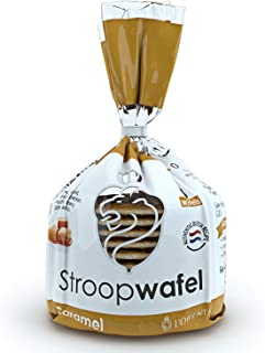 L'Orenta Stroopwafels 8-Count Bag - Caramel Wafer Cookies for Dunking In Coffee - Authentic Dutch Recipe - Non GMO - Made By Dutch Bakers - No Artificial Sweeteners
