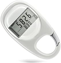 Gzvxuny 3D Walking Distance Pedometer Portable Pedometer with Clip, Walking Distance Miles/km Exercise Fitness Activity Ca...
