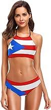 Puerto Rico Flag 2 PC Swimsuits Woman Bikini High Neck wimwear XS-2XL