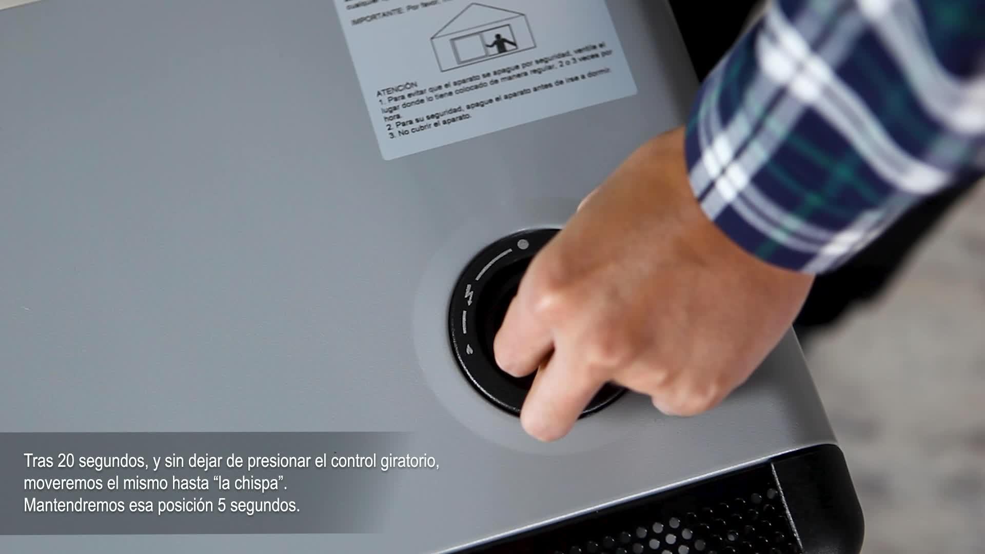 Orbegozo HBF 90 Estufa de Butano, Triple Sistema de Seguridad, Llama Azul, 4200 W, Metal, Negro/Gris