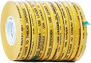 WOD ATG-7502 General Purpose ATG Tape, Adhesive Transfer Tape Glider Refill Rolls Clear Adhesive on Gold Liner (Acid Free and Available in Multiple Sizes): 1/4 in. wide x 36 yds. (Pack of 12)