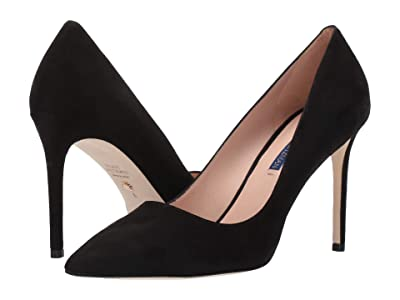 Stuart Weitzman Leigh 95mm Pump (Black Suede) Women