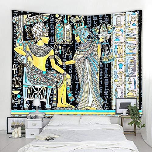 shuimanjinshan Tapiz Egipcio Antiguo Egipto mitología tapices para Colgar en la Pared para Sala de Estar Dormitorio Dormitorio hogar Manta decoración 130X150Cm