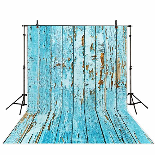 Funnytree Blue Wooden Board Wall Photography Backdrops Retro Navy Floor Wood Children Photo Studio Background Newborn Baby Shower Photocall