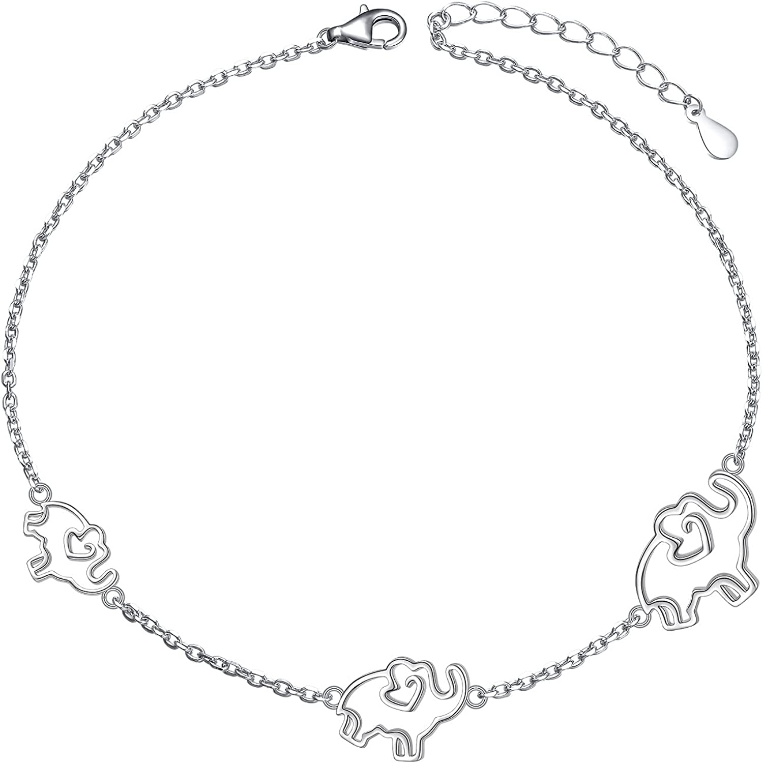Anklets for Fashionable Women S925 Sterling Foot Award-winning store Adjustable Silver Ank Beach