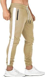 Yidarton Mens Sweatpants Stylish Slim Fit Athletic Jogger Pants Workout Running Track Pants