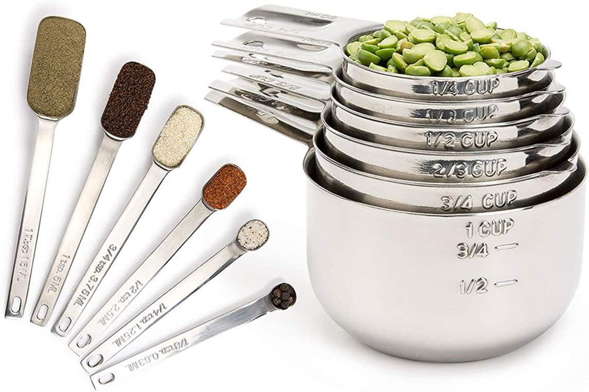 Yagosodee Measuring Cups Spoons Set Arlington Mall Max 58% OFF 13Pcs Steel Stainless Kitc