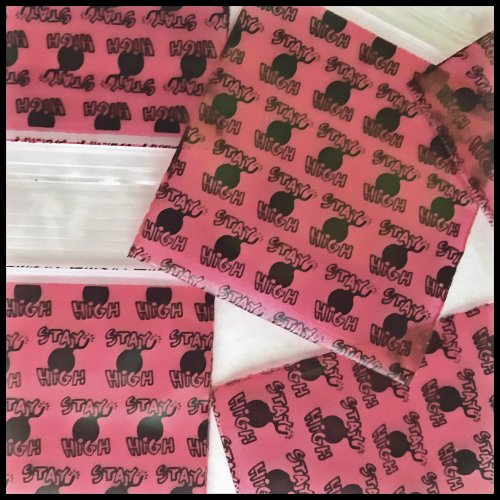 "1000 Mini Ziplock Baggies 2020 Get Real Design Mix Apple Brand High End Quality 2"" X 2"" Photo #7"