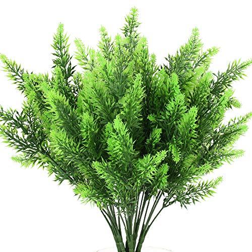 NAHUAA 6pcs Plantas Artificiales Arbusto Artificiales Al Aire Libre Planta de Plástico para Hogar Jardín Cocina Decoración Exterior Interior